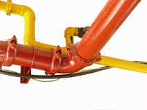 Utilities. Gas, water pipes and cables together Royalty Free Stock Photos