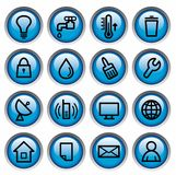 Utilities buttons Stock Photo