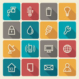 Utilities icons Stock Photo