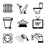 Utilities icons Stock Images