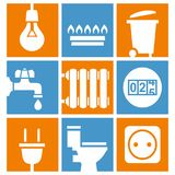 Utilities icons set Royalty Free Stock Image