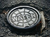 Utilities: water main cover Stock Photography
