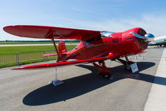 Utility aircraft Beechcraft Model 17 Staggerwing. Stock Photo