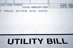 Utility Bill Royalty Free Stock Image