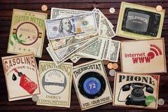 Utility bills Royalty Free Stock Photo
