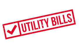 Utility Bills rubber stamp Royalty Free Stock Image