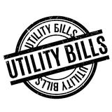 Utility Bills rubber stamp Stock Photography