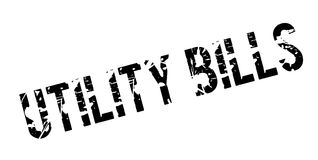 Utility Bills rubber stamp Royalty Free Stock Photo