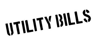 Utility Bills rubber stamp. Grunge design with dust scratches. Effects can be easily removed for a clean, crisp look. Color is easily changed Stock Images