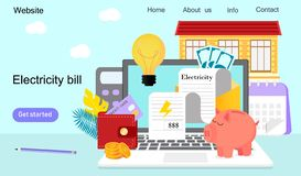 Utility bills and saving resources vector illustration