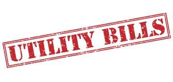 Utility bills stamp Stock Photography