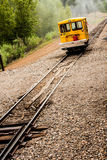 Utility Car on Train Tracks Royalty Free Stock Images
