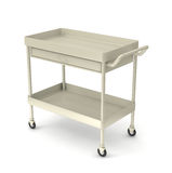 Utility cart. Medical devices utility cart on white backgrond Royalty Free Stock Photos
