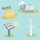 Utility Energy Company Icons Stock Images