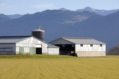 Utility Farm Buildings in Valley Stock Images