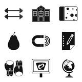 Utility icons set, simple style Royalty Free Stock Images