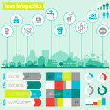 Utility infographics Stock Images