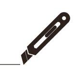 Utility knife sign Royalty Free Stock Photo