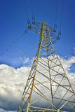 Utility pole. With power line Stock Image