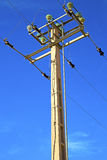 Utility pole in africa morocco energy and distribution pylon Royalty Free Stock Photography