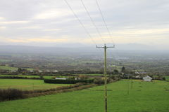 Utility pole in Irland Royalty Free Stock Image