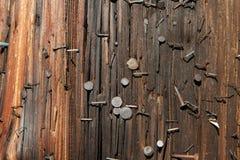 Utility Pole nails horizontal Stock Image