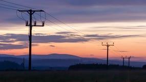 Utility poles Royalty Free Stock Photo
