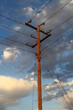 Utility power line pole Royalty Free Stock Images