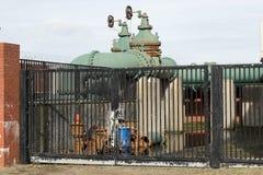 Utility pump site. Stock Photo