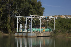Utility pumping station Stock Image