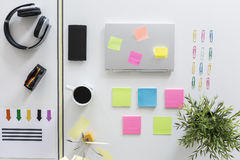 Utility of sticky notes Royalty Free Stock Image