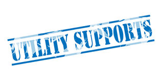 Utility supports blue stamp Stock Photos