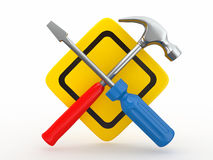 Utility. Tools, screwdriver and hammer. Royalty Free Stock Photography