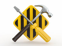 Utility. Tools, screwdriver and hammer. Stock Images