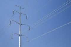 Utility Tower with Diagonal Wires Across Full Frame Royalty Free Stock Image