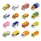 Utility Transport Icon Set. Flat 3d Isometric Stock Image