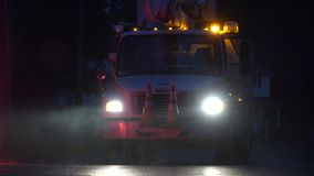 Utility Trucks, Repair Services. Stock video of utility trucks stock video