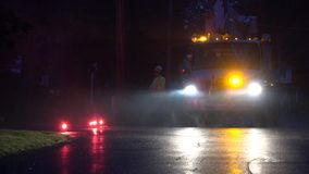 Utility Trucks, Repair Services. Stock video of utility trucks stock footage