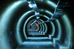 Utility Tunnel - Emergency Escape Tunnel Stock Photos