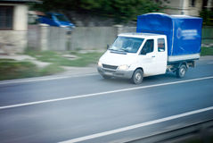 Utility vehicle. On the road Stock Image