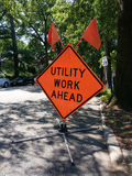 Utility Work Ahead Stock Images