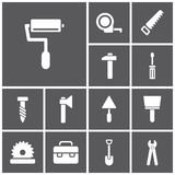 Utiliza ferramentas ícones Fotografia de Stock Royalty Free