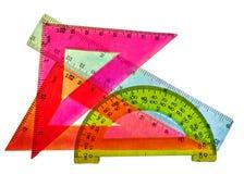 Utiliza ferramentas a geometria do aluno. Fotografia de Stock