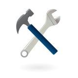 Utiliza ferramentas o ícone isolado ilustração stock
