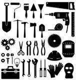 Utiliza ferramentas o ícone no fundo branco Foto de Stock