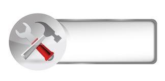 Utiliza ferramentas o botão do ícone Fotos de Stock Royalty Free