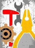 Utiliza ferramentas o fundo ilustração royalty free