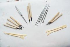 Utiliza ferramentas o pintor Foto de Stock