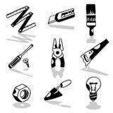 Utiliza ferramentas os ícones 2 Imagens de Stock