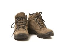 Utilizado yendo de excursión los zapatos Fotografía de archivo libre de regalías